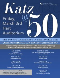 Katz @ 50: The Fourth Amendment in the Digital Age @ Washington, DC | Washington | District of Columbia | United States