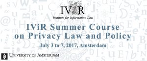 The Fifth Annual Summer Course on Privacy Law and Policy @ Amsterdam   Amsterdam   Noord-Holland   Netherlands