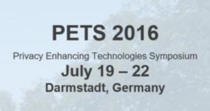 PETS Symposium 2016 @ Darmstadt   Darmstadt   Hessen   Germany