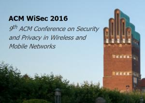 WiSec 2016 @ Darmstadt   Darmstadt   Hessen   Germany