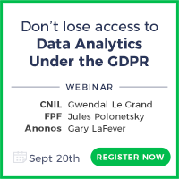 Don't lose access to Data Analytics under the GDPR @ Online Event