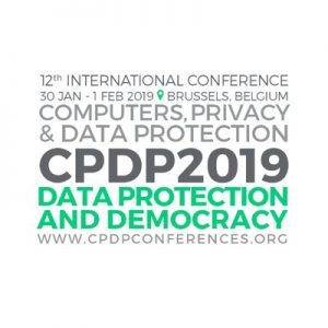 Computers, Privacy, and Data Protection (CPDP 2019): The Internet of Bodies @ Brussels