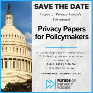 The 9th Annual Privacy Papers for Policymakers @ Capitol Hill