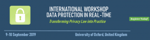 The Oxford /OASIS International Workshop: Delivering Data Protection in Real Time @ Department of Computer Science Wolfson Building | England | United Kingdom